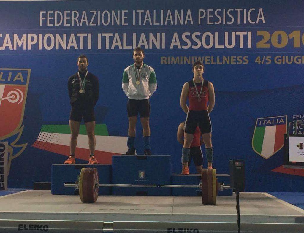 Francesco certossi sul podio dei 69 kg